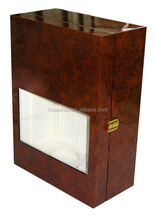 acrylic window glossy wooden wine carrier