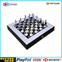 silver metal chess/ metal giant chess set/metal chess