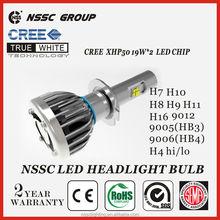 NSSC Factory Original Design cree led headlamp, Error Free led headlamp 38w 4500lm headlight tuning light