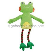 Amy carol original frog plush dog toys pet products