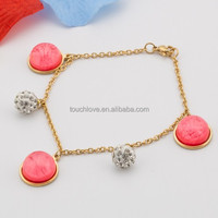 2015 new design red charm bracelet with best price