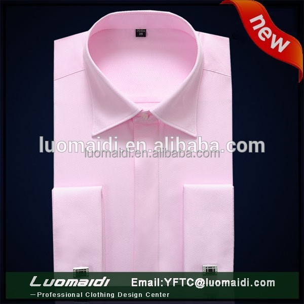 Hot Sale Twill French Cuff Mans Shirt Top Quality Men