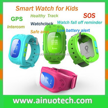 hot sell !! Q50 child SOS wrist watch phone for kids fashion GPS wristband healthy tracker
