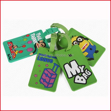 custom made 3d rubber luggage tags/PVC luggage tags