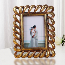 resin Golden cartoon certificate holder children naturist photo frame 4 x 6 inch clear free standing collage sex photo frame