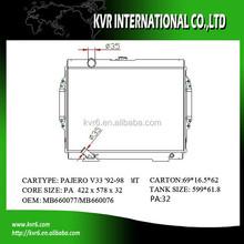 brazed radiator for 3.0 i PAJERO V33 OE No.: MB538805/MB660076