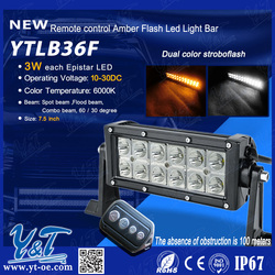 high power off road 36w led flash light bar for truck