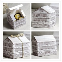 Hot Sale Decorative House shape Chocolate Gift Box for Christmas Gift