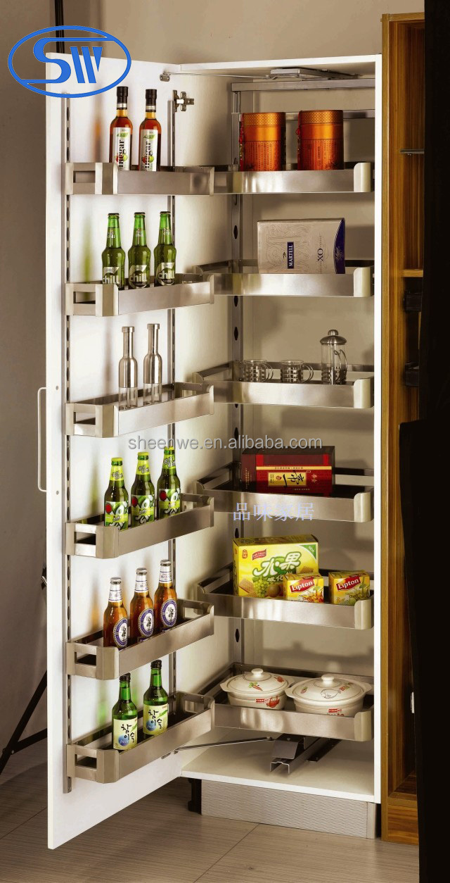 sw 450 guangzhou pull out pantry unit stainless steel