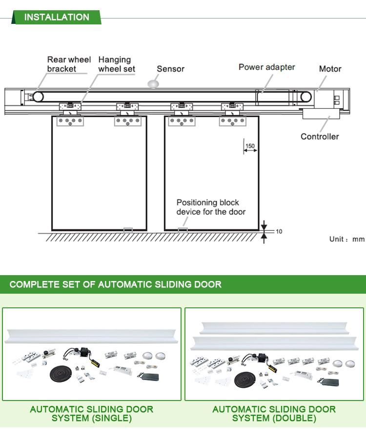 Automatic Sliding Doors Infrared Sensor Ce Dc Automatic Door Auto