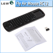 Brand New Measy RC12 2.4GHz Mini Fly Air Mouse Wireless Keyboard for Google Android Smart TV Box support russian