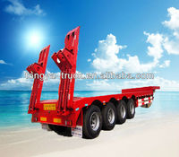 transport heavy machinery lowboy trailer 100 tons for sale