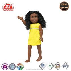 factory vinyl black little African American Dolls