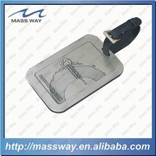 custom antique pewter alloy fish 3D zinc alloy luggage tag