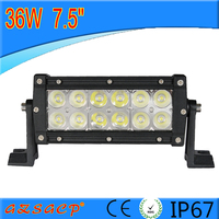 7.5inch 36w 12v waterproof battery powered led light bar with super brightness
