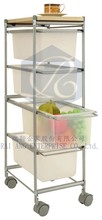 4 Layer Drawer with 4 Plastic Wheels - Food Trolley