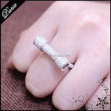 DLY Joyería al por mayor anillo de plata marroquí Anillo de Plata 925 con mancuernas