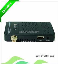 hd pron video tv box full hd 1080p xbmc av/rj45 icone i-2000 HD receiver with CA Wifi BISS rj45 wifi adapter