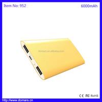 6000mAh Dual USB USA&Euro Power Bank External Battery Charger For Phone Pad