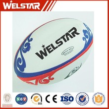 fashion soft touch rubber leather rugby ball