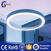 Modern single ring circle led pendant light for office commercial lighting