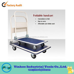 2015 new style hand trolley/push cart with wheels for logistics transportion