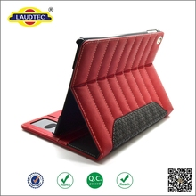 New Design Luxury Leather Wallet Tablet Case For iPad Air with stand