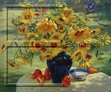 Wholesale Handmade Original Art Flower Oil Painting
