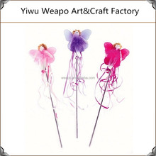 Promotion High Quality Girls Butterfly Wand Halloween Fancy Fairy Wand For Children