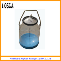 Losca plastic/transparent dairy milk can for female milking machine