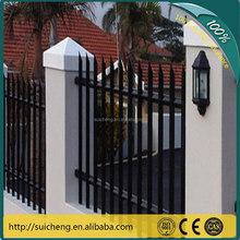 Guangzhou factory free sample steel pvc garden fence/palisade fence for euro garden