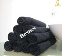 Durable cotton Beauty Salon Fade resistant Black Barber towel