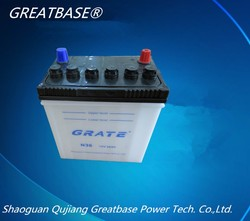 12v 36Ah the most competitive supplier Auto battery/dry charged car battery