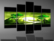 modern african art oil painting african scenery on canvas for living room