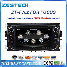 Exporter car dvd player For ford focus 7 Inch Touch Screen car GPS Navi with TV BT All Function
