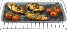 PTFE fiberglass barbecue grill mesh , crisp BBQ cooking grill mesh