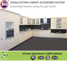Economical American style luxury PVC kitchen cabinets for villa