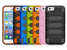 for iphone 6 case/mobile phone back cover/PC+TPU tank style combo phone case