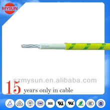 fiberglass braided high tension silicone wire UL3135 electric cable manufacturer