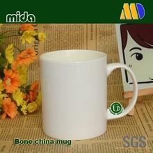 Manufacturer of Sublimation Bone china Mugs Coated Blank Materials for Heat Transfer Customize Logo or Photo 11OZ