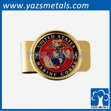 gold plating metal photo money clip