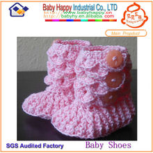 cheap new born crochet knitting baby shoes