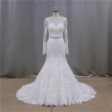 superb crystal bead lace tiered organza muslim wedding gown pictures