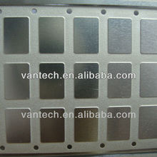 half etching metal item convex concave indentation IC lids