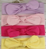 Fashion knotted girl headband cute cotton fabric knot baby head wrap