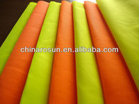 High visibility fluorescent polyester fabric material