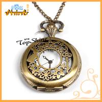 939 Orient Electroplating Full Metal Alchemist Alice In Wonderland Charm Rabbit Key Flower Jewelry Pocket Watches