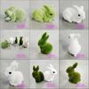 H080619 decorative fake rabbit white rabbit decorative easter rabbits