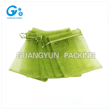 Customized drawstring bag good quality colorful candy bags wedding gift organza bag