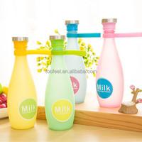 360ml bowling-shape glass bottle/ wholesale super cute water bottle for child